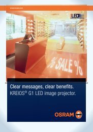 Clear messages, clear benefits. KREIOS® G1 LED image ... - Osram