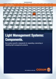 Light Management Systems: Components. - Osram