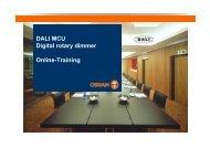 DALI MCU Digital rotary dimmer Online-Training - Osram