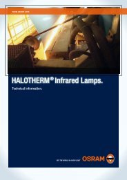 HALOTHERM® Infrared Lamps. - Osram