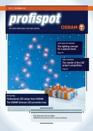 Professional LED lamps from OSRAM. The OSRAM Siemens LED ...