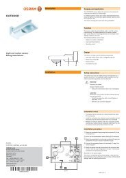 Mounting instructions OSRAM OUTDOOR sensor