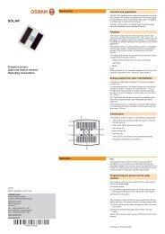 Presence sensor (light and motion sensor) Operating ... - Osram