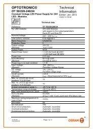 OT 50/220-240/24 Datasheet - Osram