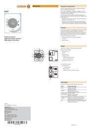 Operating instructions Description - Osram