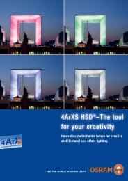 4ArXS HSD®–The tool for your creativity - Osram