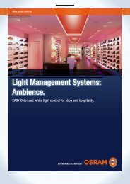 Light management systems: Ambience (1.3 MB) - Osram