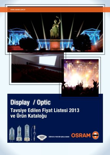 Display Optik Fiyat listesi 2013 - Osram