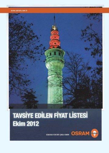 OSRAM Fiyat Listesi 2012