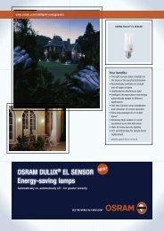 OSRAM DULUX® EL SENSOR Energy-saving lamps - Elfa