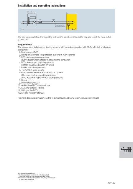 [DIAGRAM_3NM]  Installation instruction - Osram | Osram Ballast Wiring Diagrams |  | Yumpu