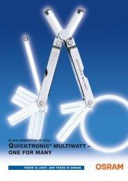 QUICKTRONIC® MULTIWATT – ONE FOR MANY - Osram