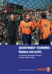 QUICKTRONIC® ECONOMIC: Replace and profit. - Osram