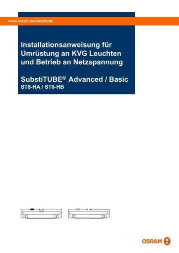 Installationsanweisu Umrüstung an KVG g und Betrieb an ... - Osram