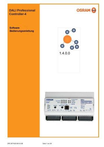 Software Bedienungsanleitung DALI Pro. 1.4.0.0 (D) - Osram