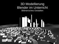 3D Modellierung Blender im Unterricht