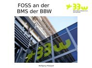 FOSS an der BMS der BBW - Open Source Software an Schulen