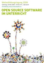 Open SOurce SOftware im unterricht - Open Source Software an ...