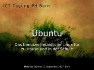 Ubuntu - Open Source Software an Schulen