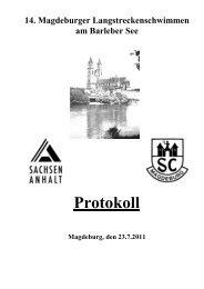 14. Magdeburger Langstreckenschwimmen 2011 - SCM Schwimmen