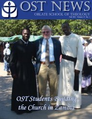 Fall 2011 Newsletter.pdf - Oblate School of Theology