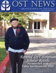 Spring 10 Newsletter Revised.indd - Oblate School of Theology