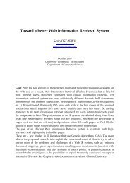 Toward a better Web Information Retrieval System - Sorin OSTAFIEV