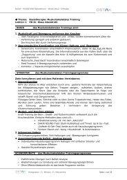 Thema: Basistherapie - OSTAK