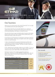 FAST FACTS AND FIGURES June 2012 Our ... - Etihad Airways
