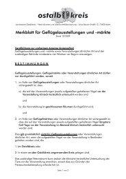 Merkblatt für Geflügelausstellungen und -märkte - Ostalbkreis