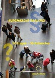 EUROPARECHT IM ALLTAG 50 Fragen – 50 Antworten