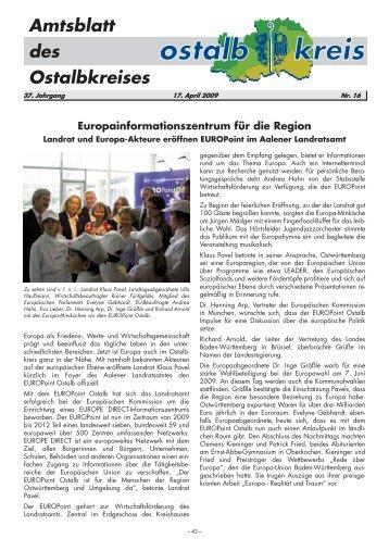 Amtsblatt von KW 16/2009 (111.7 KB application/pdf) - Ostalbkreis