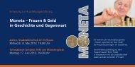 Moneta – Frauen & Geld in Geschichte und Gegenwart - Ostalbkreis