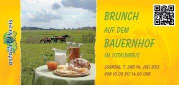 Brunch auf dem Bauernhof 2013 - Ostalbkreis