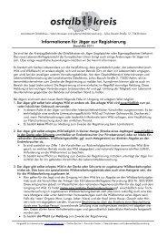 Registrierantrag für Jäger zur Abgabe von Wild und ... - Ostalbkreis