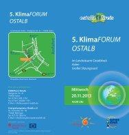 Einladung 5.Klimaforum Ostalb - Ostalbkreis
