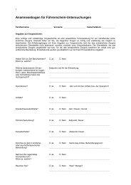 Anamnesebogen für Führerschein-Untersuchungen - Ostalbkreis