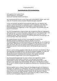 Haushaltsrede 2013 der CDU-Fraktion - Ostalbkreis