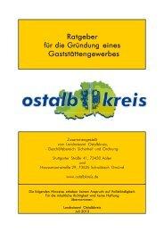 Ratgeber für die Gründung eines Gaststättengewerbes - Ostalbkreis