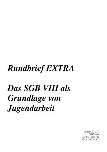 Rundbrief EXTRA Das SGB VIII als Grundlage von ... - Ostalbkreis