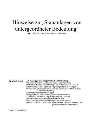 hinweise zu stauanlagen von untergeordneter bedeutung (pdf; 1,7 ...