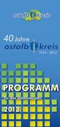 40 Jahre Ostalbkreis - Programm für das Jubiläumsjahr 2013