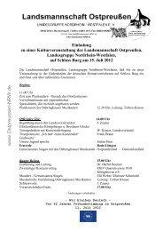 Schloss Burg - Programm 2012