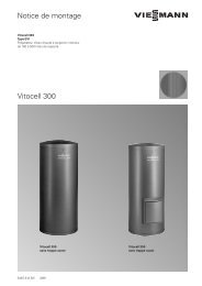 Vitocell 300 Notice de montage