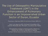 The Use of Osteopathic Manipulative Treatment (OMT) - American ...