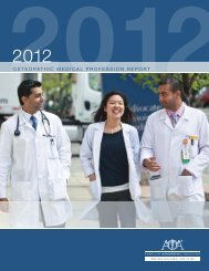 2012 OMP Report - American Osteopathic Association
