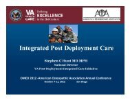 Integrated Post Deployment Care - American Osteopathic Association