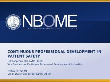 """Continuous Professional Development in Patient Safety"" - Erik ..."