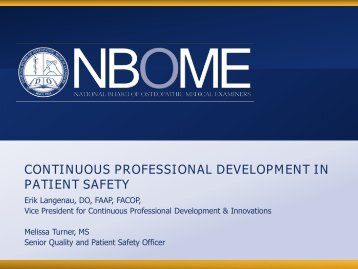 """Continuous Professional Development in Patient Safety"" - Erik ..."