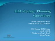 AOA-Strategic-Planning-Committee-Report - American Osteopathic ...